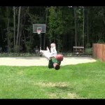 Awesome Backflip Basketball Trick Shot