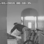 Burglar caught in CCTV house trap