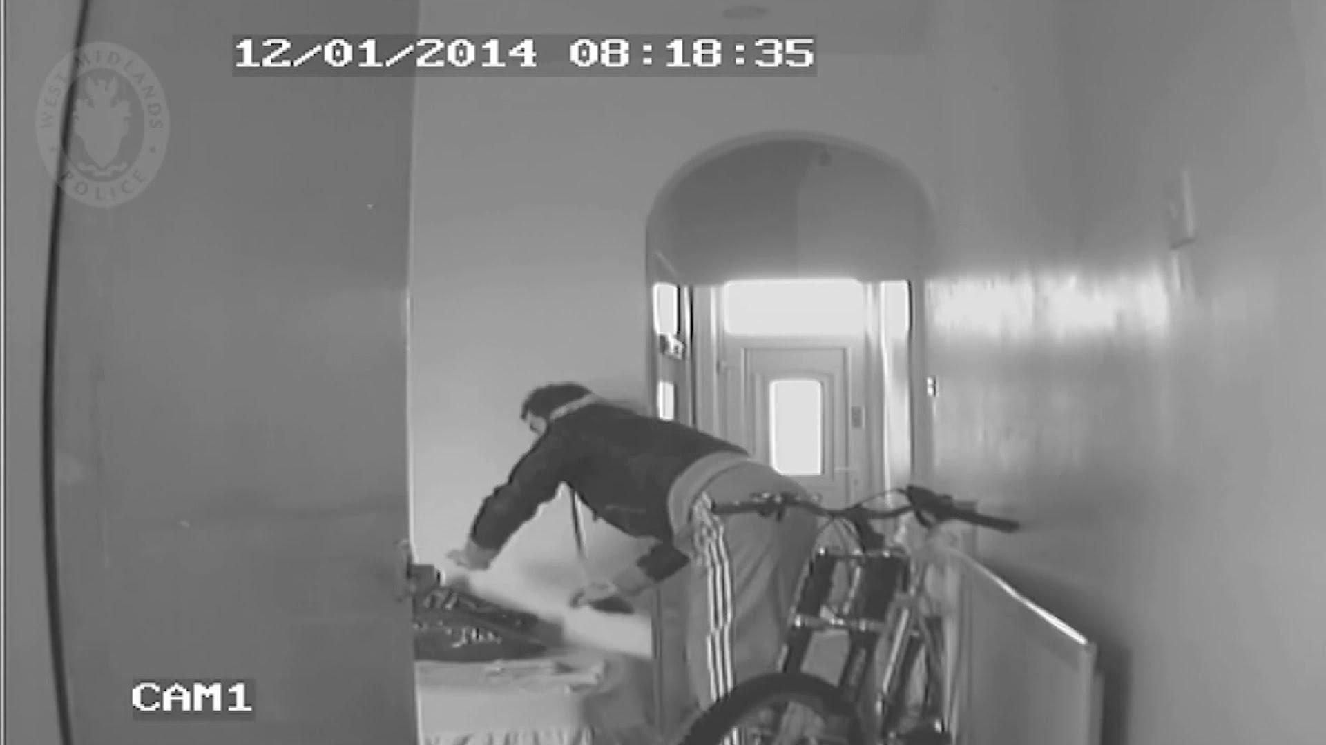 Burglar caught in CCTV house trap