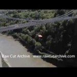 Daredevil Basejumpers Jump Off Clifton Suspension Bridge