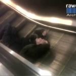 Drunk Man Escalator Fail
