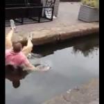 FAIL Drunk Man Attempts to Jump Canal