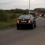 Reckless Driver Reverses Down Slip Road