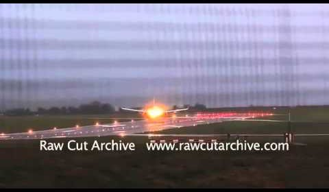 Ryanair Aeroplane Lands Sideways in Strong Winds – Bristol Airport