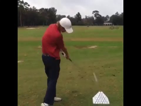 Teenager golfer has some skills