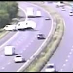 Van With Caravan Crash on M1 Motorway