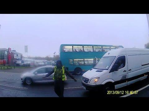 White Van Man Spits at Cyclist