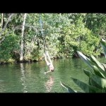 Bikini Girl Gets Crotch Burn From Rope Swing! FAIL