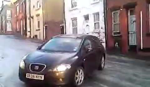 Black Ice + Car + Walking= Fail