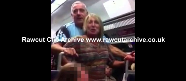 Crazy Couple Fighting on London Charing Cross Train