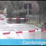 Cyclist caught in railway crossing gates /15I-PD101-016