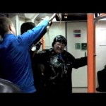 Drunk racist woman bottles eastern european man on London Overground /15N-PD2-011