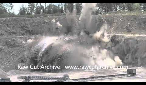 EPIC Explosion 40,000 Tonnes of Granite Being Blown Up