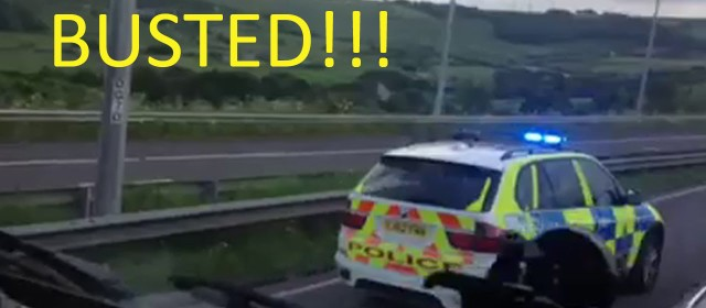 FAIL Car Caught Reversing Wrong Way Down Motorway is Caught by Police