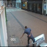 FAIL drunk attempts to kick sign and loses CCTV