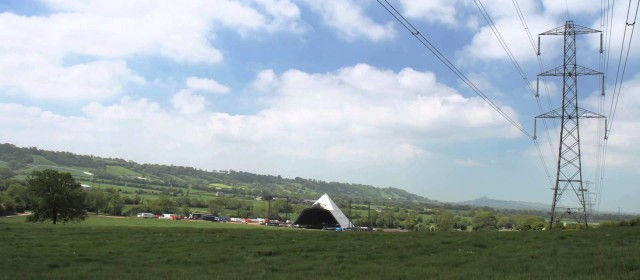 Glastonbury Wide Shot Setting Up Time Lapse *