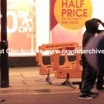 London Riots Summer 2011 Collection: Clapham Junction – Man tries to take on rioters