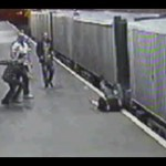 Man Is Attacked And Thrown Into Moving Train CCTV