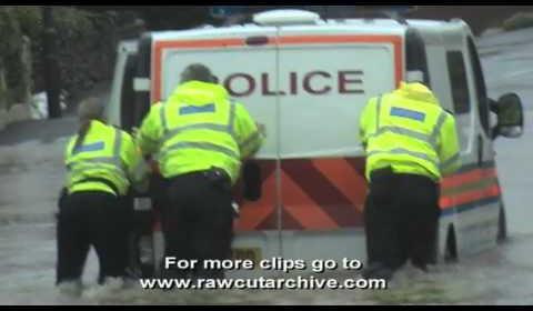 Police Van Flood Fail