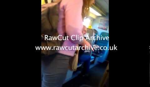 Racist man on Brighton train wearing ntl jacket