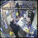 Shop keeper fights off thief with stool