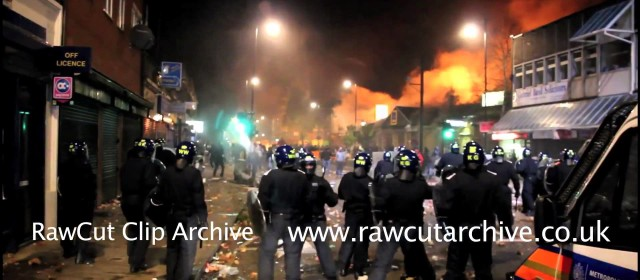 Tottenham Riots The Frontline HD with blurs