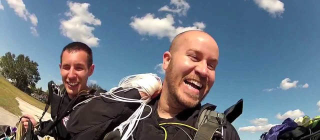 WIN or FAIL Skydiver Catches Inflatable Raft In Mid Air