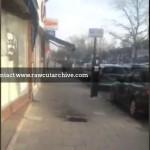 10 foot tall flames narrowly miss guy on street/ 15L-PD101-044