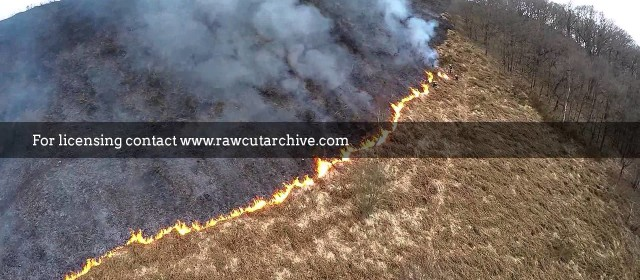Drone footage of mountain fire /15P-DRONE1-002