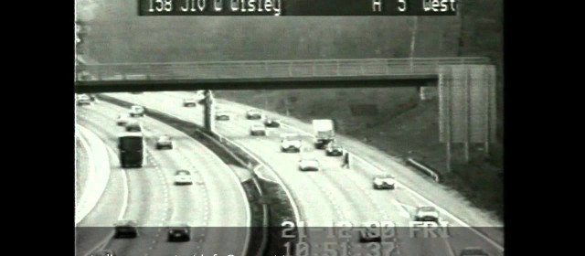 Guy Walking Across Motorway – Surrey