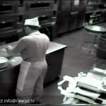 KITCHEN CCTV: Baker sneezes into cake dough