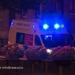 London GV – Ambulance, Blue lights, Night