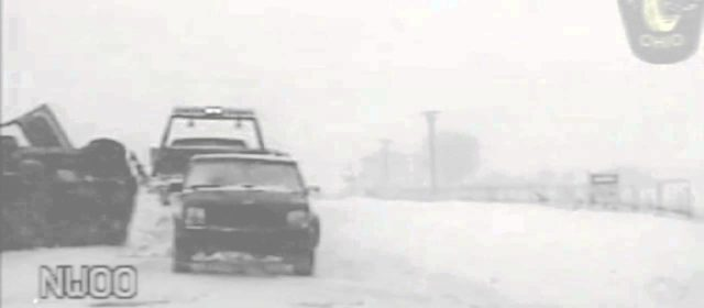 SUV Flips Over Tow Truck In Blizzard