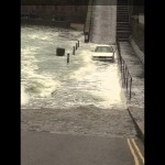 Škoda Attempts to Drive Through Flood